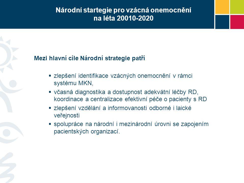 Národní startegie pro vzácná onemocnění na léta 20010-2020