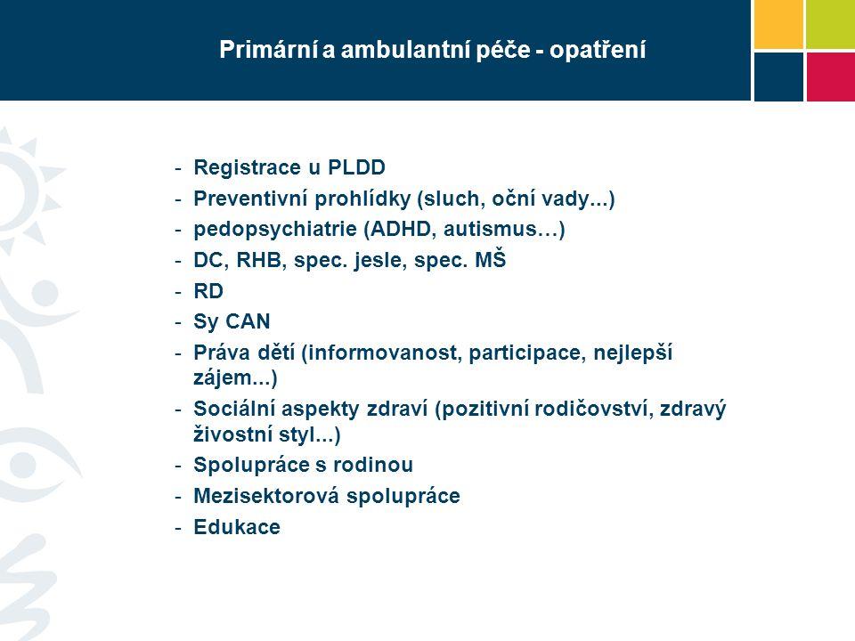 Primární a ambulantní péče - opatření