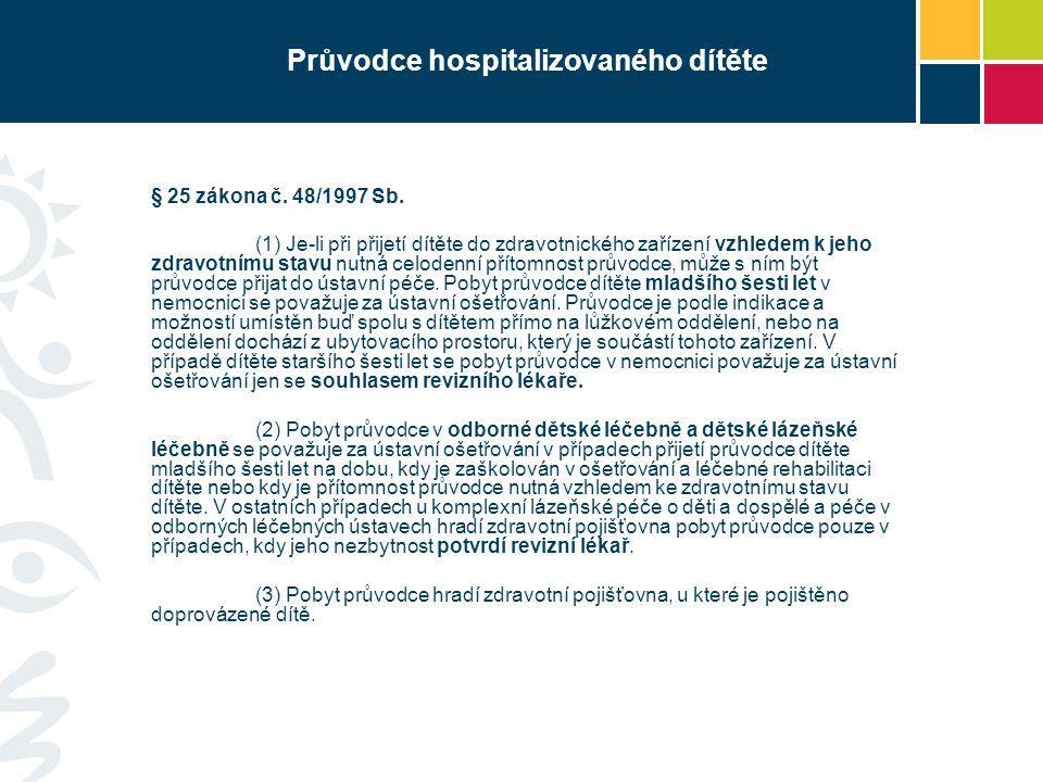 Průvodce hospitalizovaného dítěte