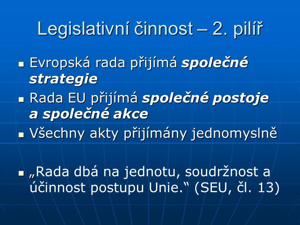 Legislativní činnost – 2. pilíř