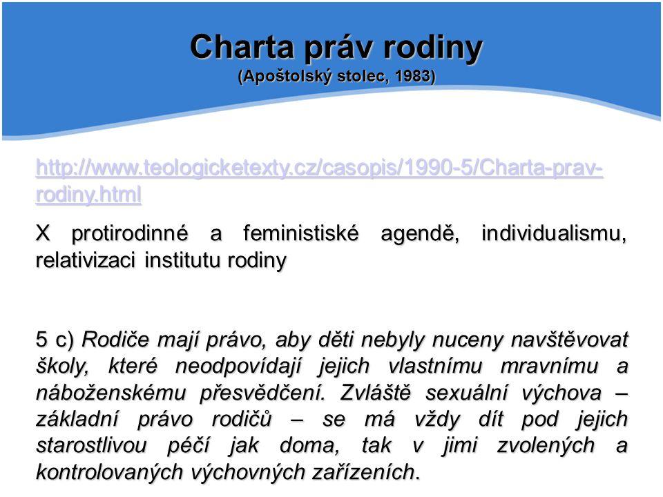 Charta práv rodiny (Apoštolský stolec, 1983)