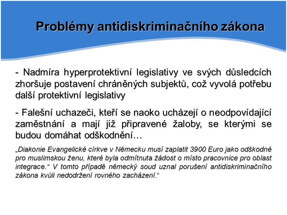 Problémy antidiskriminačního zákona