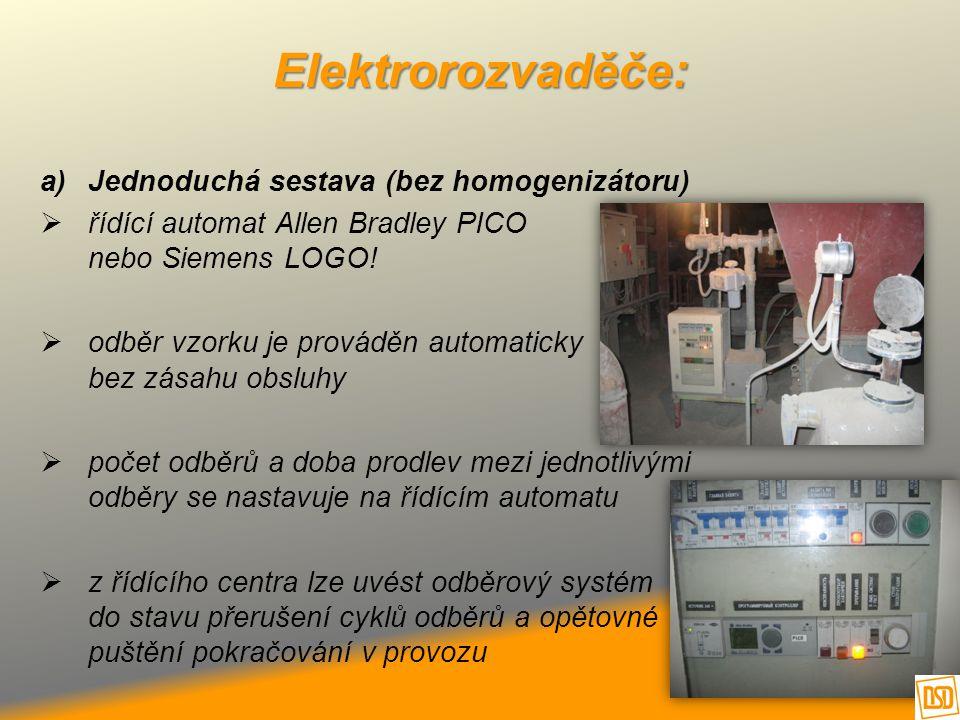 Elektrorozvaděče: Jednoduchá sestava (bez homogenizátoru)