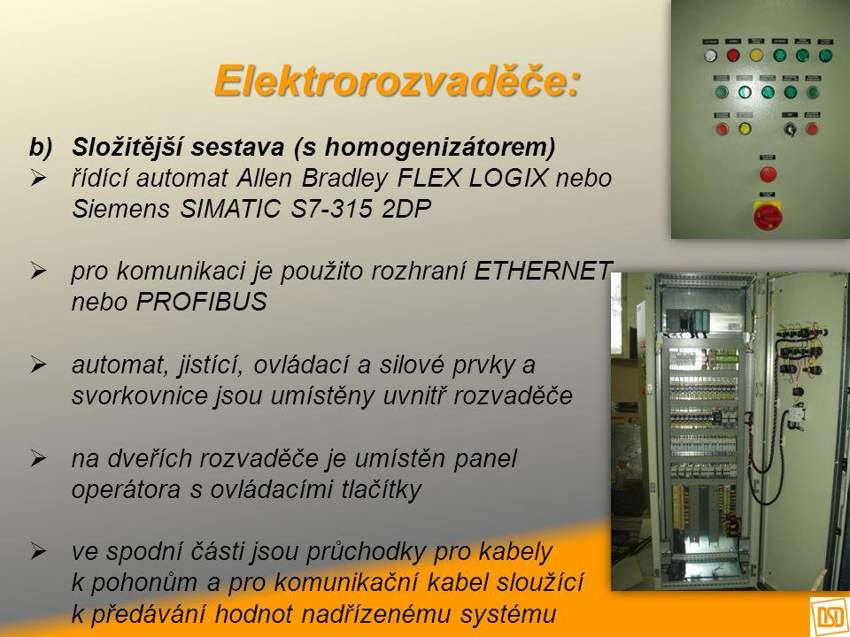Elektrorozvaděče: Složitější sestava (s homogenizátorem)