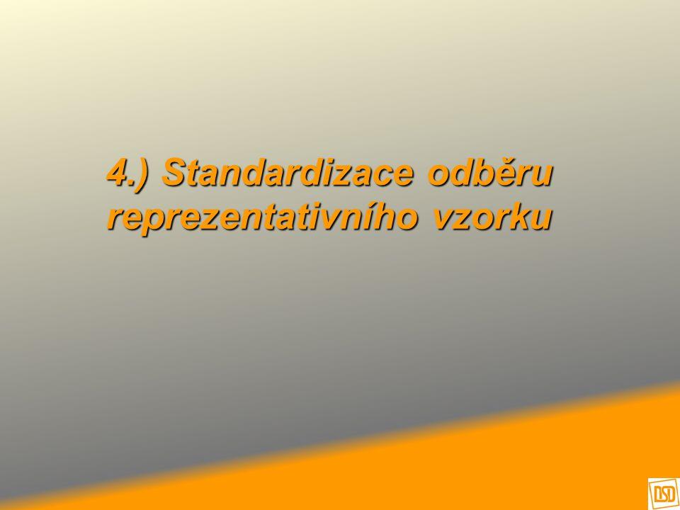 4.) Standardizace odběru reprezentativního vzorku