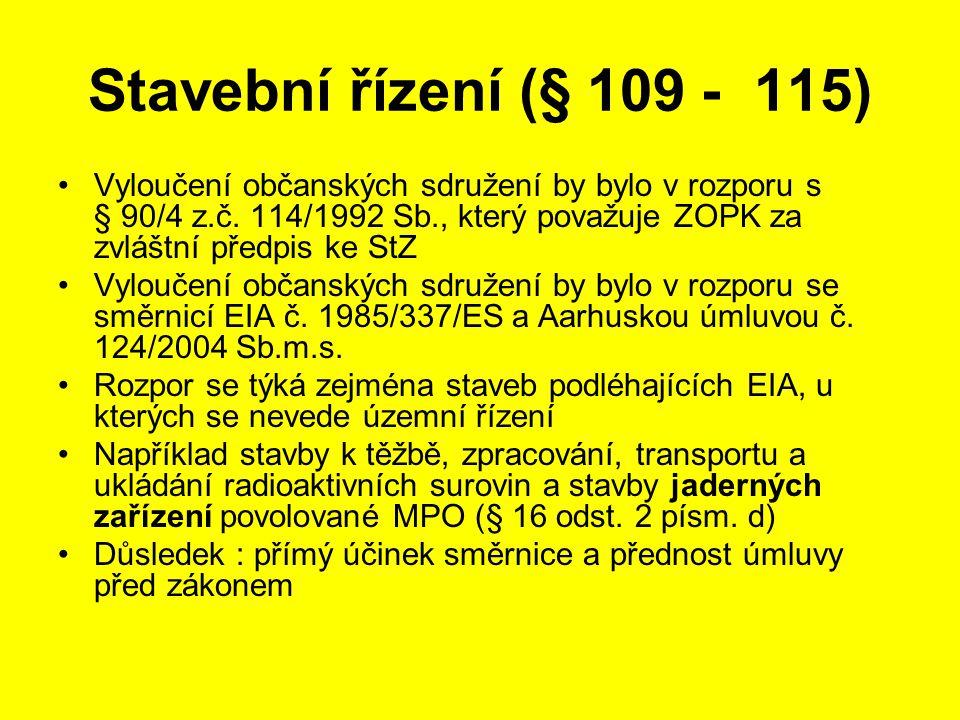 Stavební řízení (§ 109 - 115)