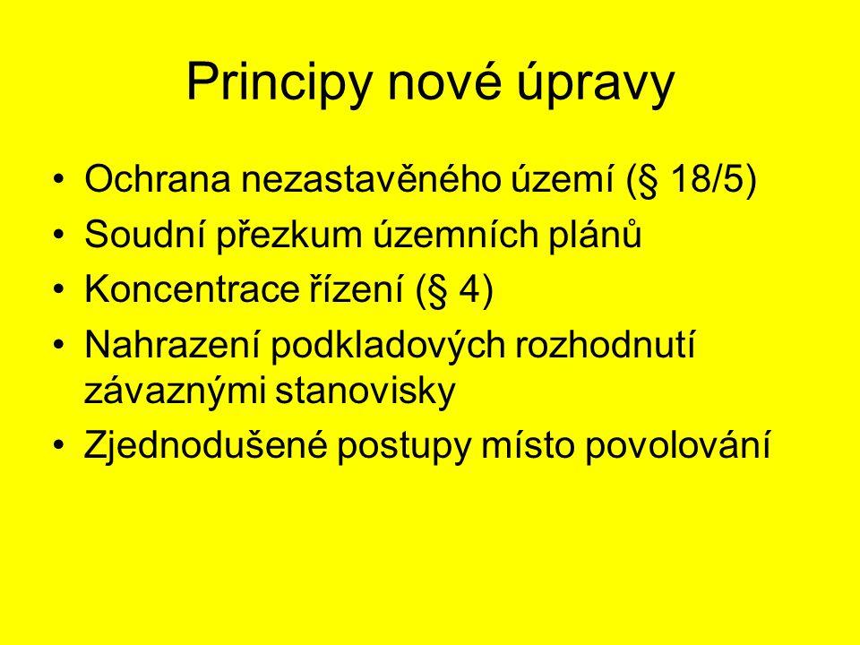 Principy nové úpravy Ochrana nezastavěného území (§ 18/5)