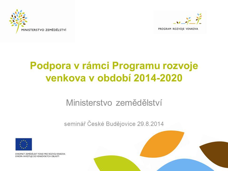 Podpora v rámci Programu rozvoje venkova v období 2014-2020