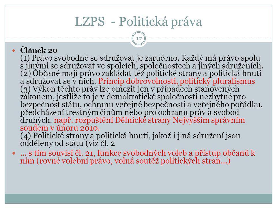 LZPS - Politická práva