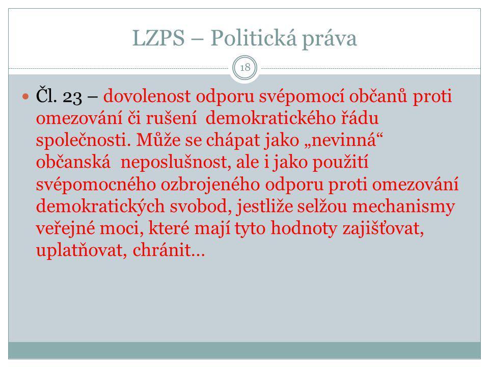 LZPS – Politická práva