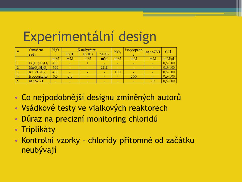 Experimentální design