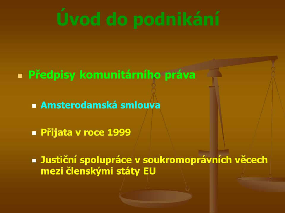 Předpisy komunitárního práva