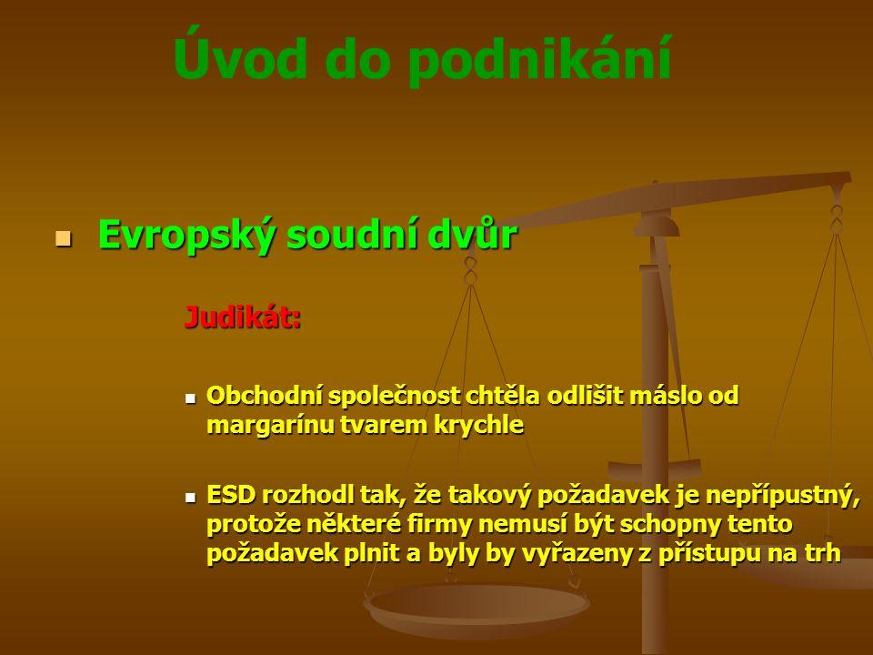 Evropský soudní dvůr Judikát: