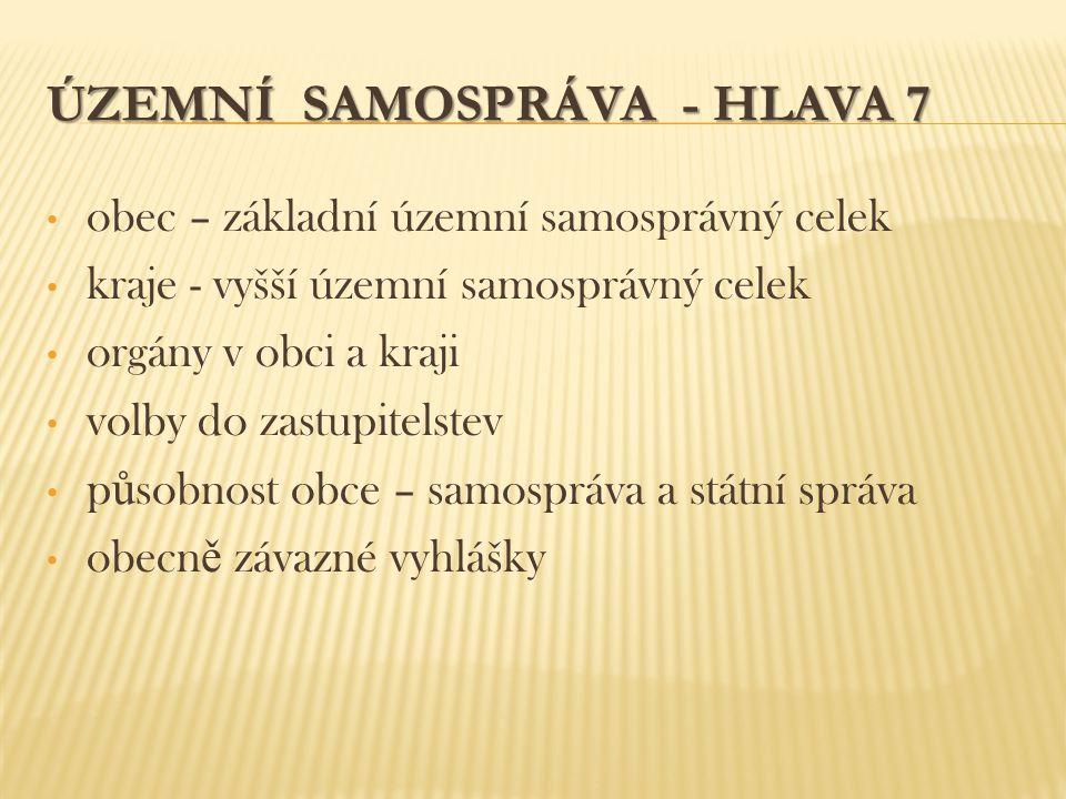 ÚZEMNÍ SAMOSPRÁVA - HLAVA 7