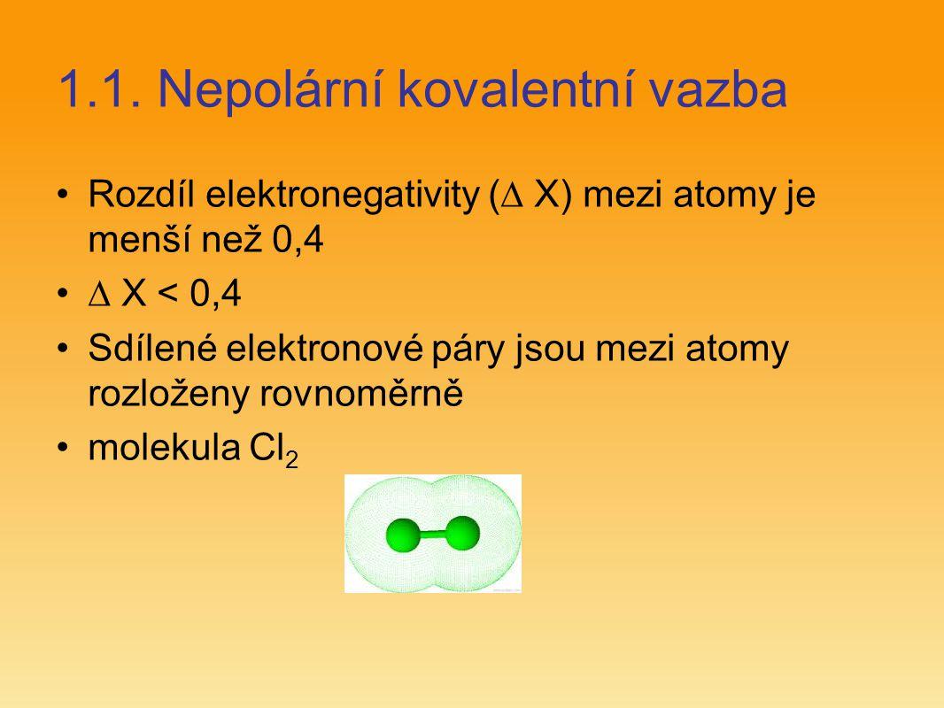 1.1. Nepolární kovalentní vazba