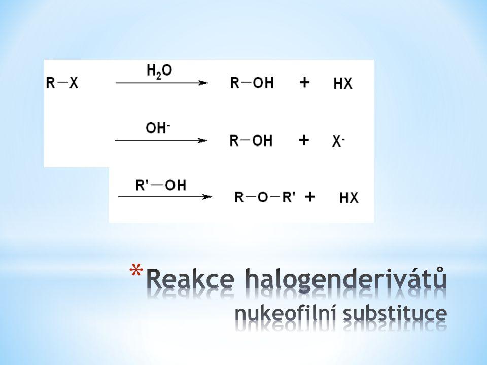 Reakce halogenderivátů nukeofilní substituce