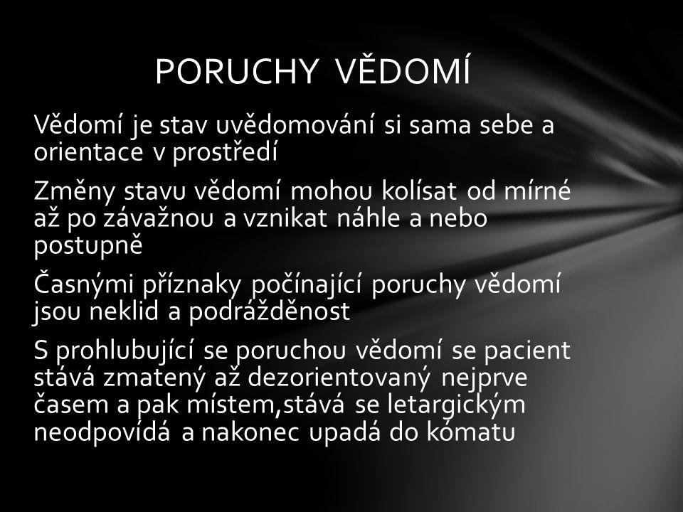 PORUCHY VĚDOMÍ