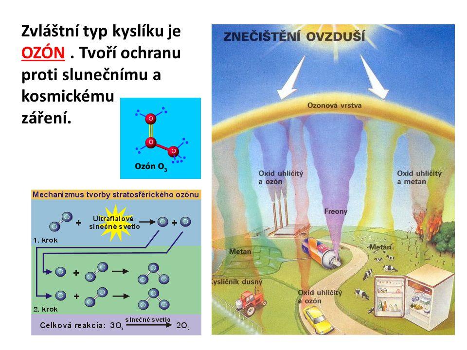 Zvláštní typ kyslíku je OZÓN