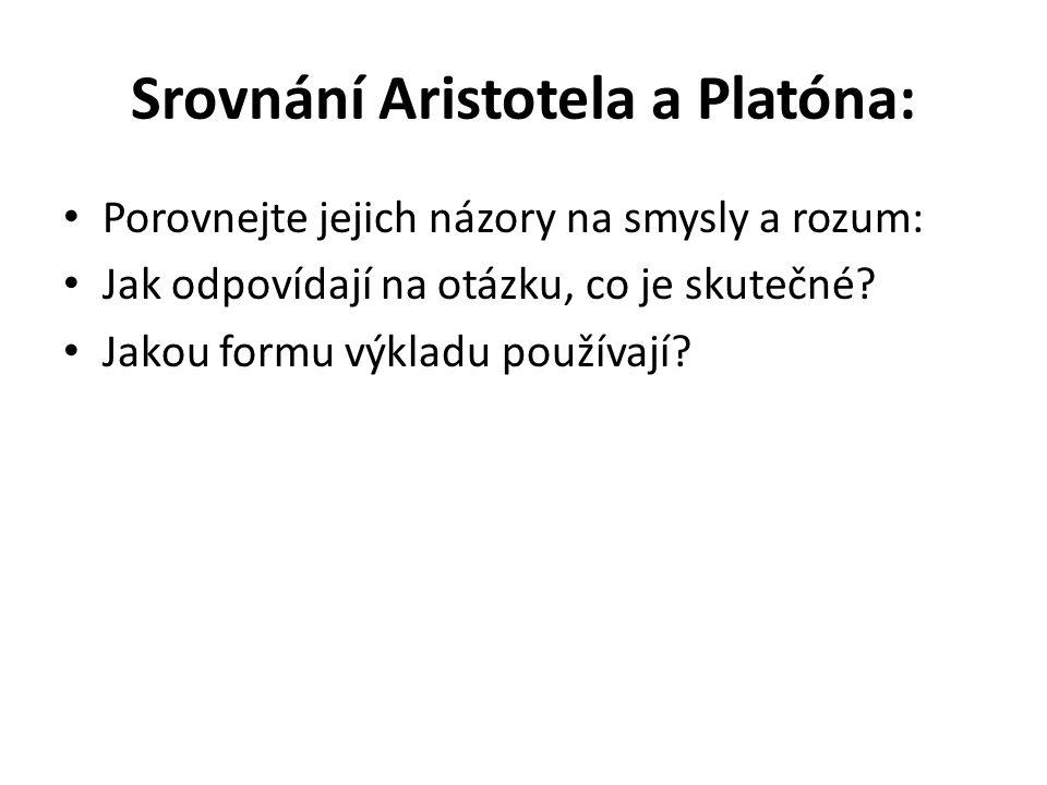 Srovnání Aristotela a Platóna: