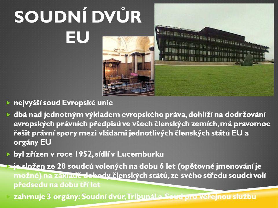 SOUDNÍ DVŮR eu nejvyšší soud Evropské unie