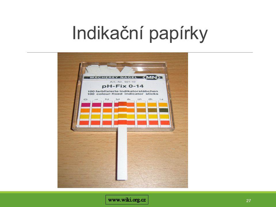 Indikační papírky www.wiki.org.cz