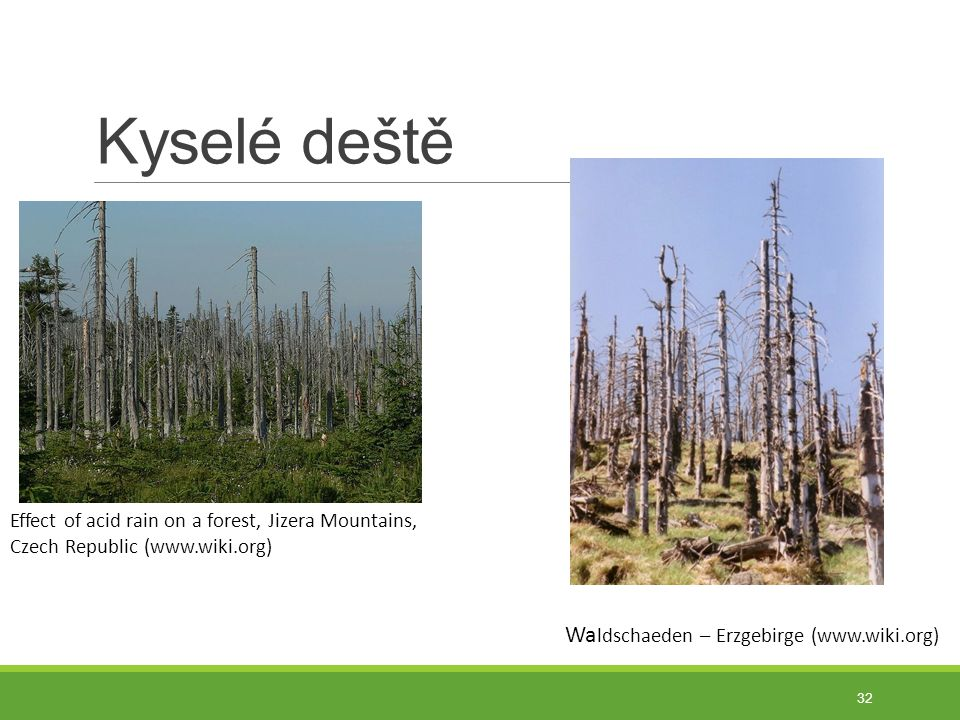 Kyselé deště Waldschaeden – Erzgebirge (www.wiki.org)