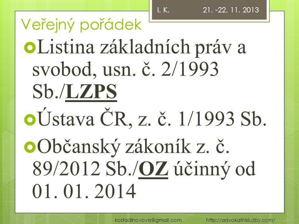 Listina základních práv a svobod, usn. č. 2/1993 Sb./LZPS