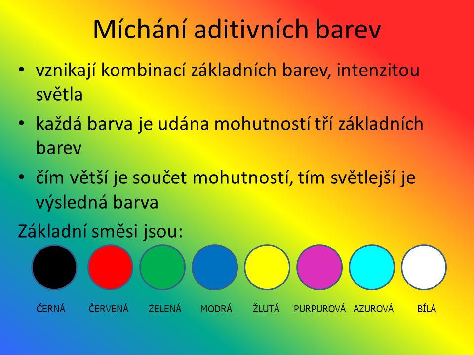 Míchání aditivních barev