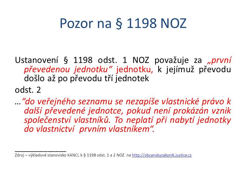 Pozor na § 1198 NOZ