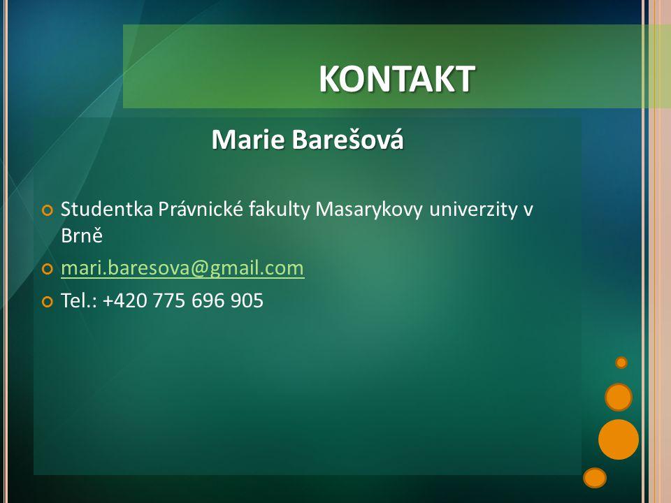 kontakt Marie Barešová