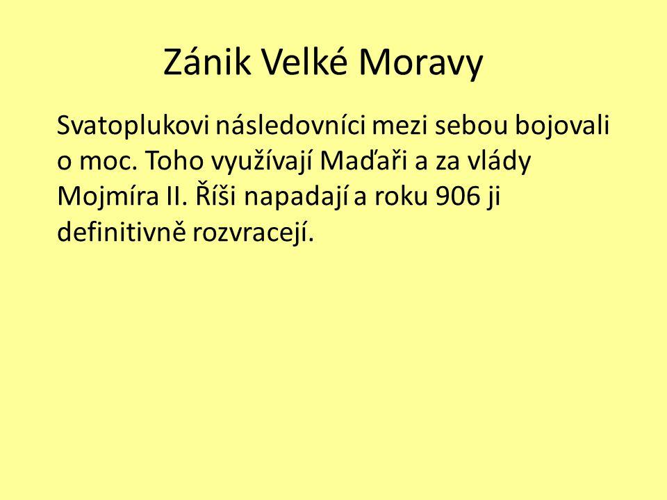 Zánik Velké Moravy