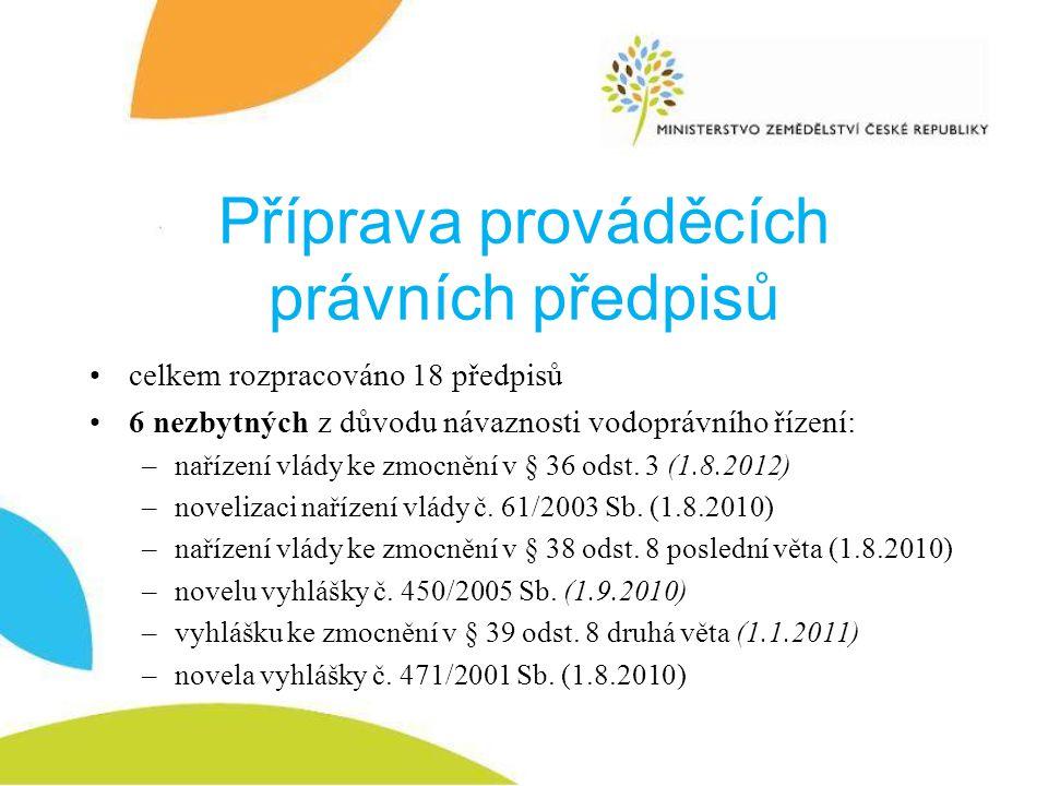 Příprava prováděcích právních předpisů