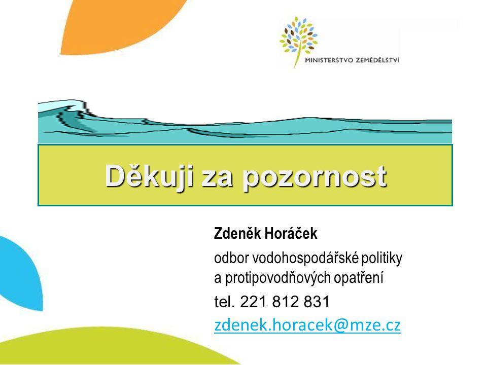 Děkuji za pozornost zdenek.horacek@mze.cz Zdeněk Horáček
