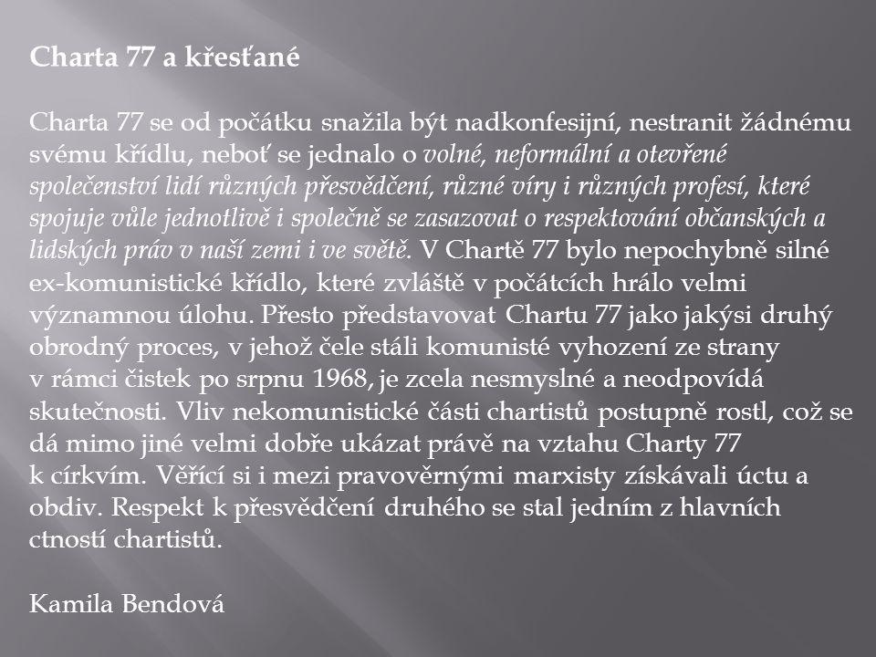Charta 77 a křesťané
