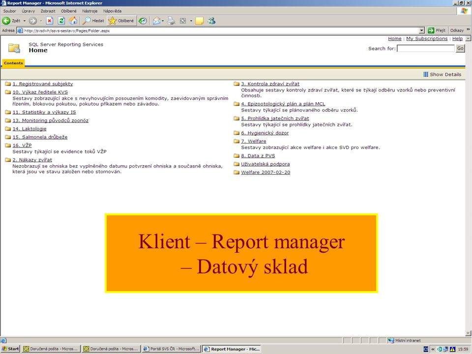 Klient – Report manager