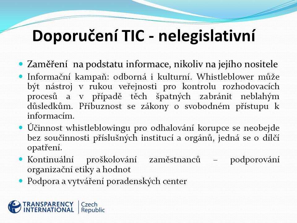 Doporučení TIC - nelegislativní