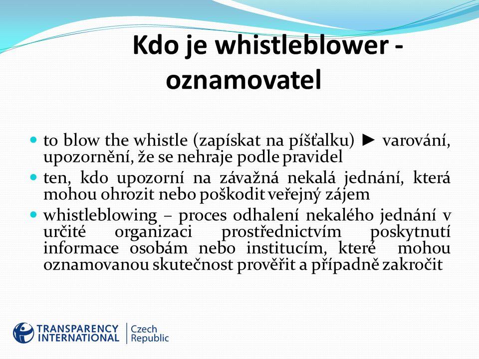 Kdo je whistleblower - oznamovatel