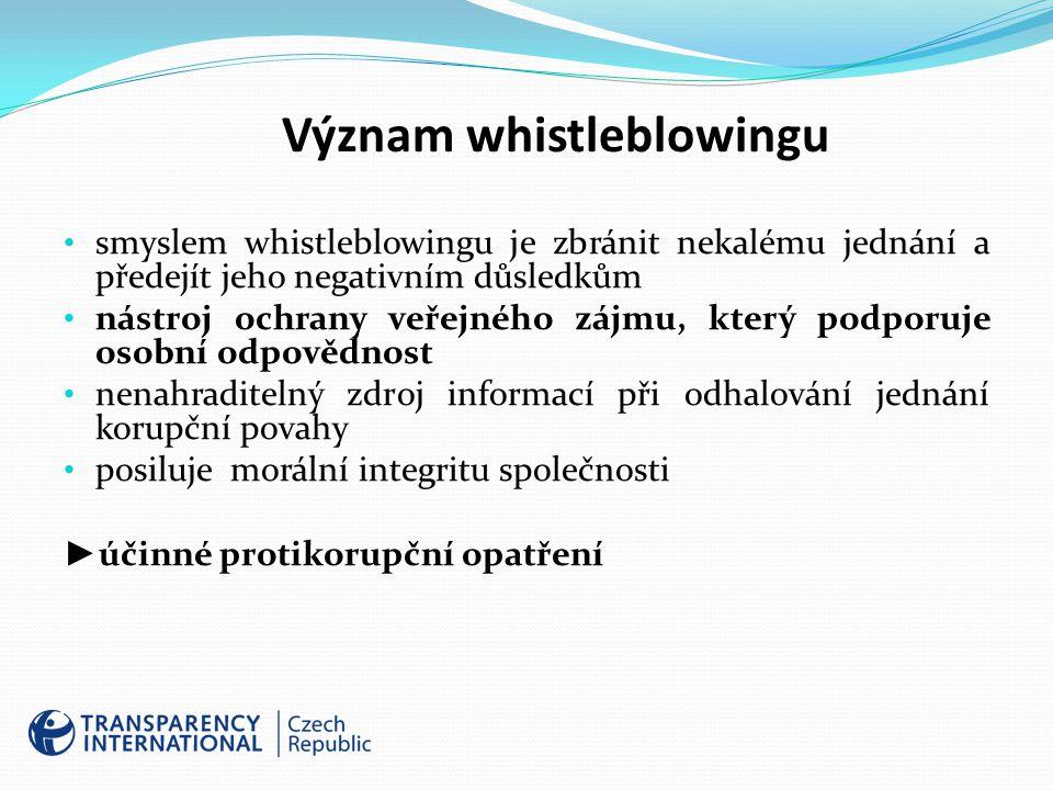 Význam whistleblowingu