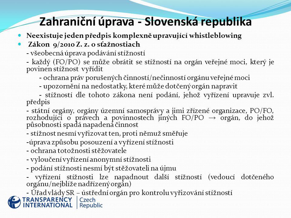 Zahraniční úprava - Slovenská republika
