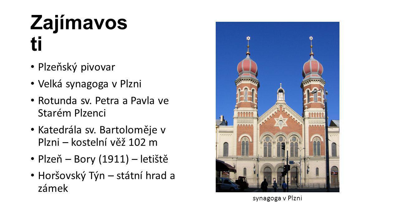 Zajímavosti Plzeňský pivovar Velká synagoga v Plzni