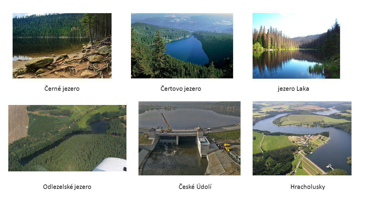 Černé jezero Čertovo jezero jezero Laka Odlezelské jezero České Údolí Hracholusky