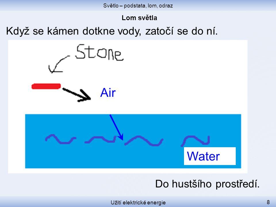 Air Water Když se kámen dotkne vody, zatočí se do ní.