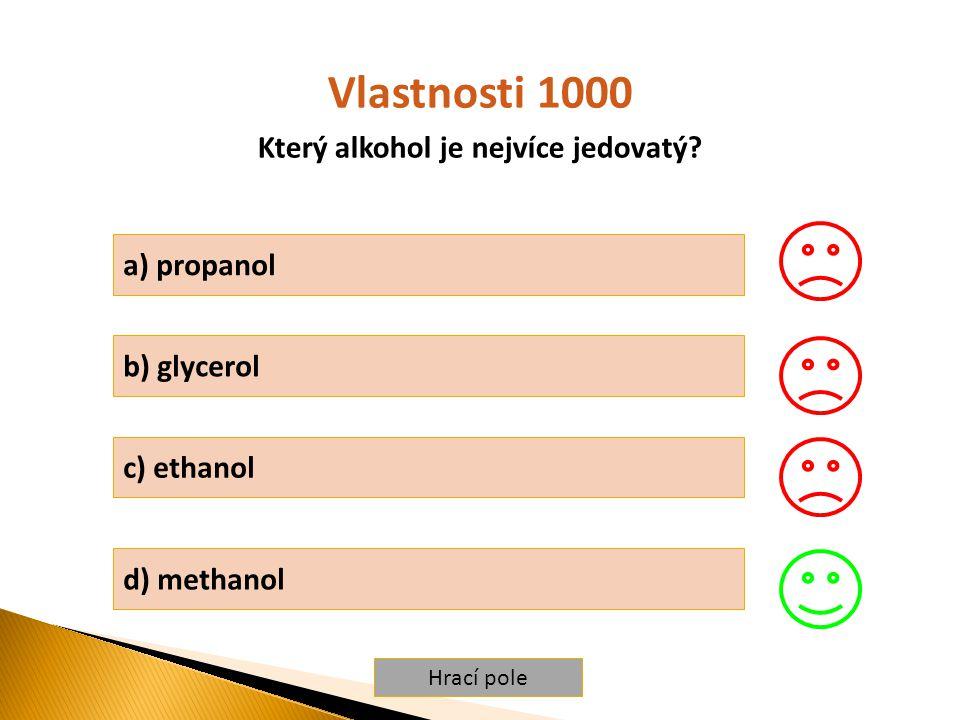 Který alkohol je nejvíce jedovatý