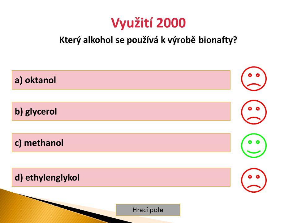 Který alkohol se používá k výrobě bionafty