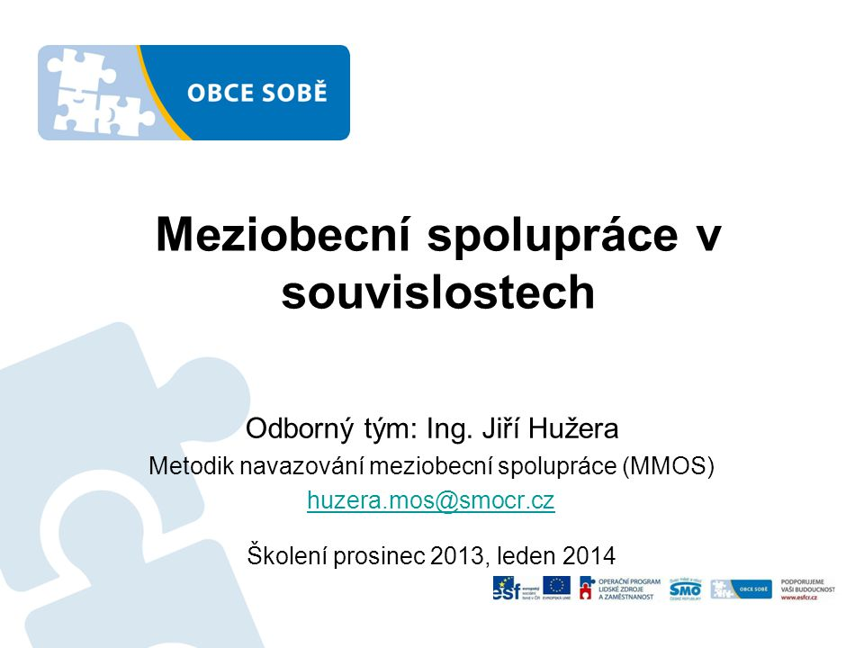 Meziobecní spolupráce v souvislostech
