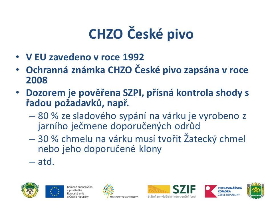 CHZO České pivo V EU zavedeno v roce 1992