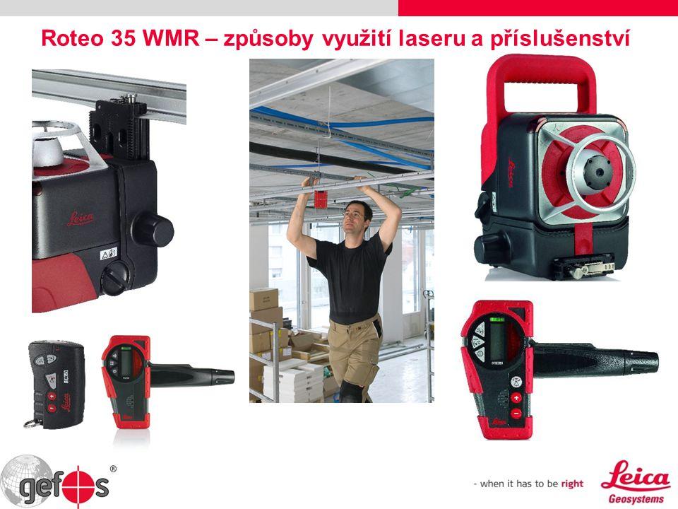 Roteo 35 WMR – způsoby využití laseru a příslušenství