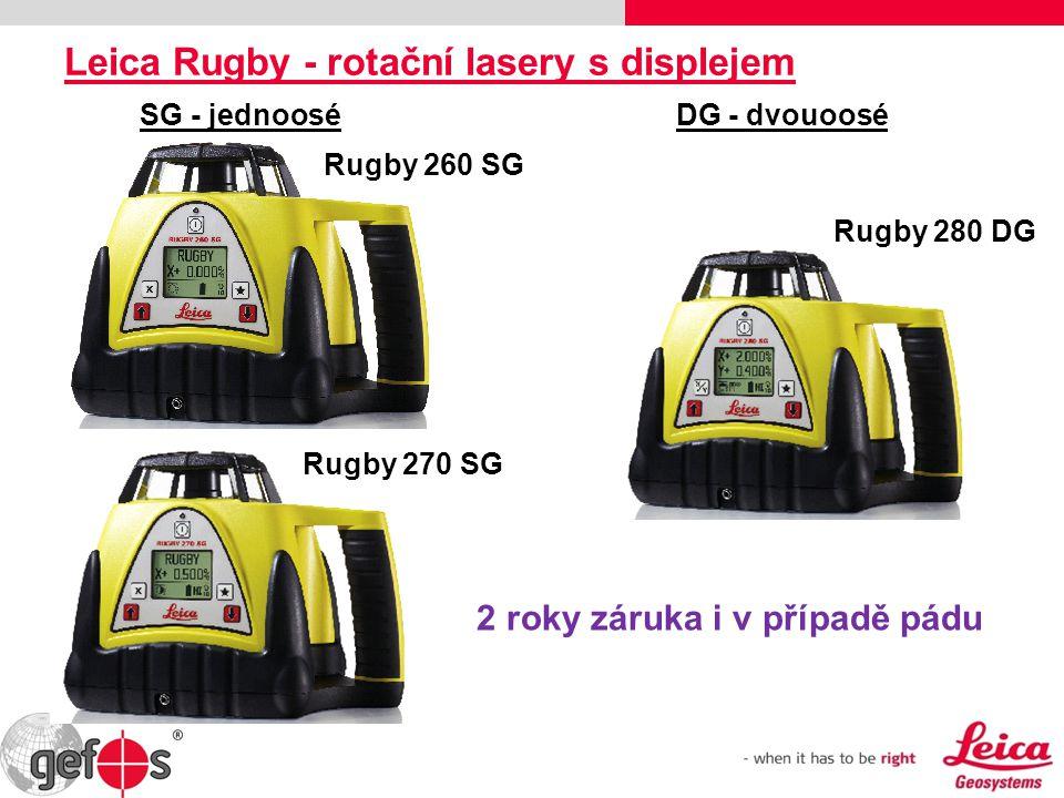 Leica Rugby - rotační lasery s displejem