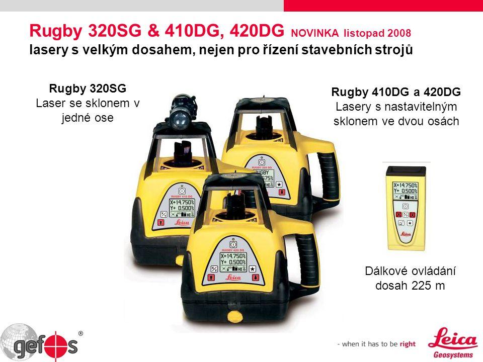 Rugby 320SG & 410DG, 420DG NOVINKA listopad 2008 lasery s velkým dosahem, nejen pro řízení stavebních strojů