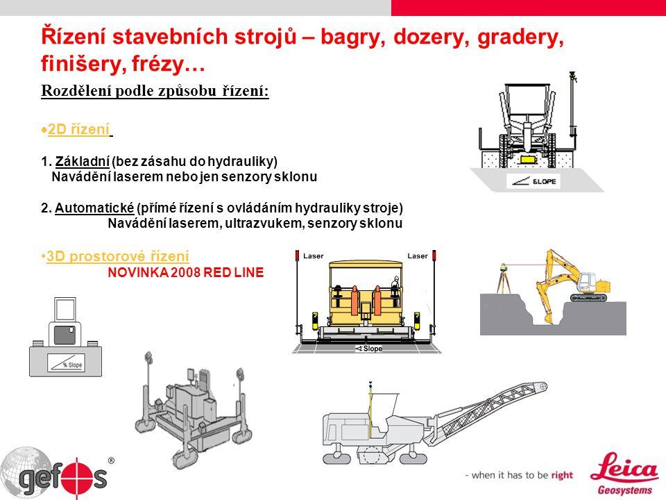 Řízení stavebních strojů – bagry, dozery, gradery, finišery, frézy…